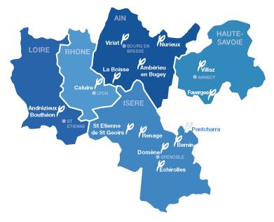 Retrouvez nos agences en Auvergne - Rhône-Alpes