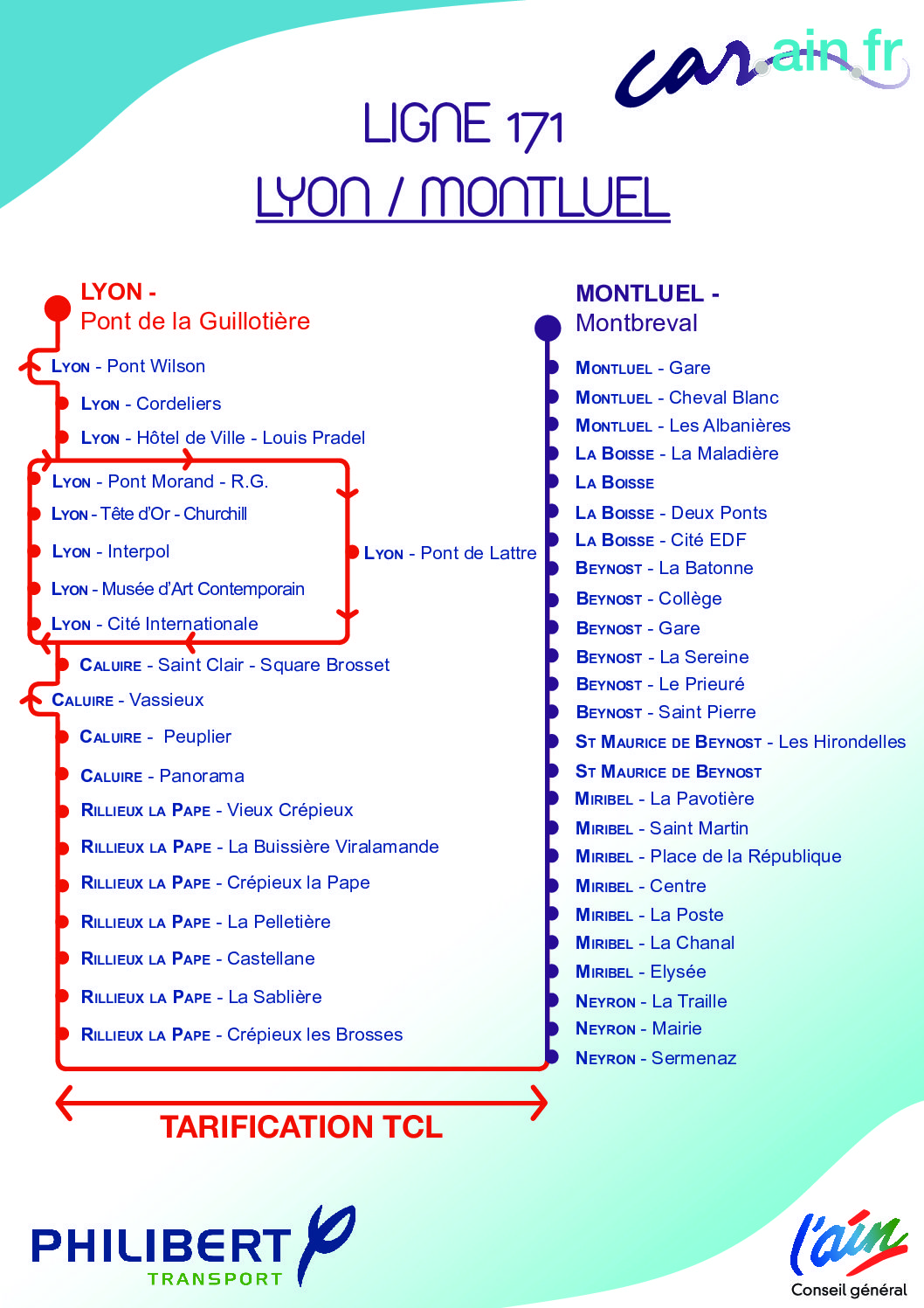 Tarifications spécifiques