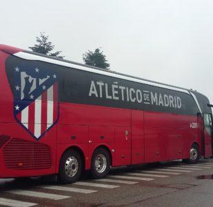 TRANSPORT DES JOUEURS DE L'ATLETICO DE MADRID