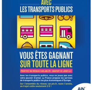 Car.ain.fr : Journée Transports Gratuits - 21 septembre